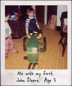 Age 3, my first John Deere